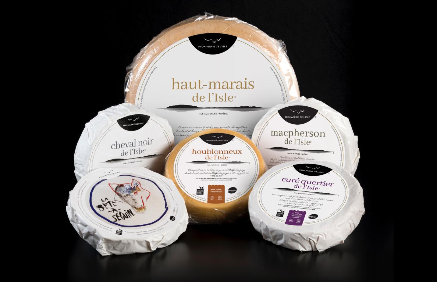 Emballage de meules de la fromagerie de l'Isle