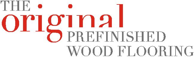 The original prefinished wood flooring