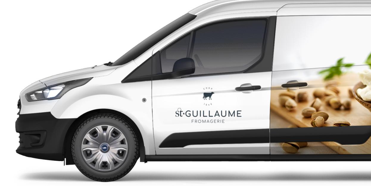 Camion de livraison de la fromagerie St-Guillaume