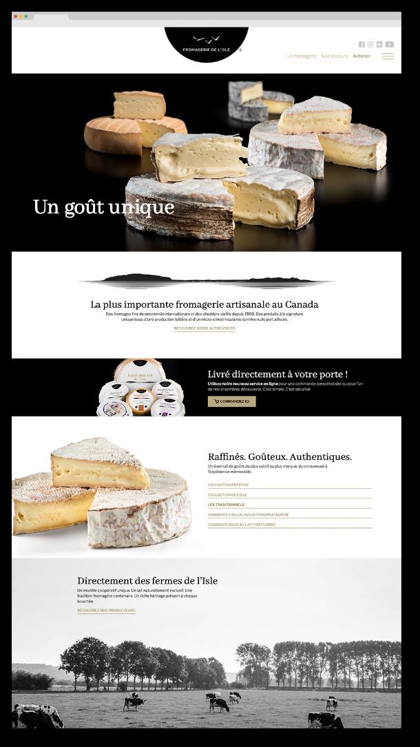 Site web de la fromagerie de l'Île